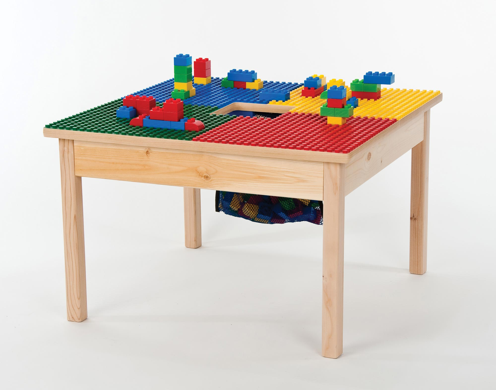 Lego Block Table Duplex with Storage