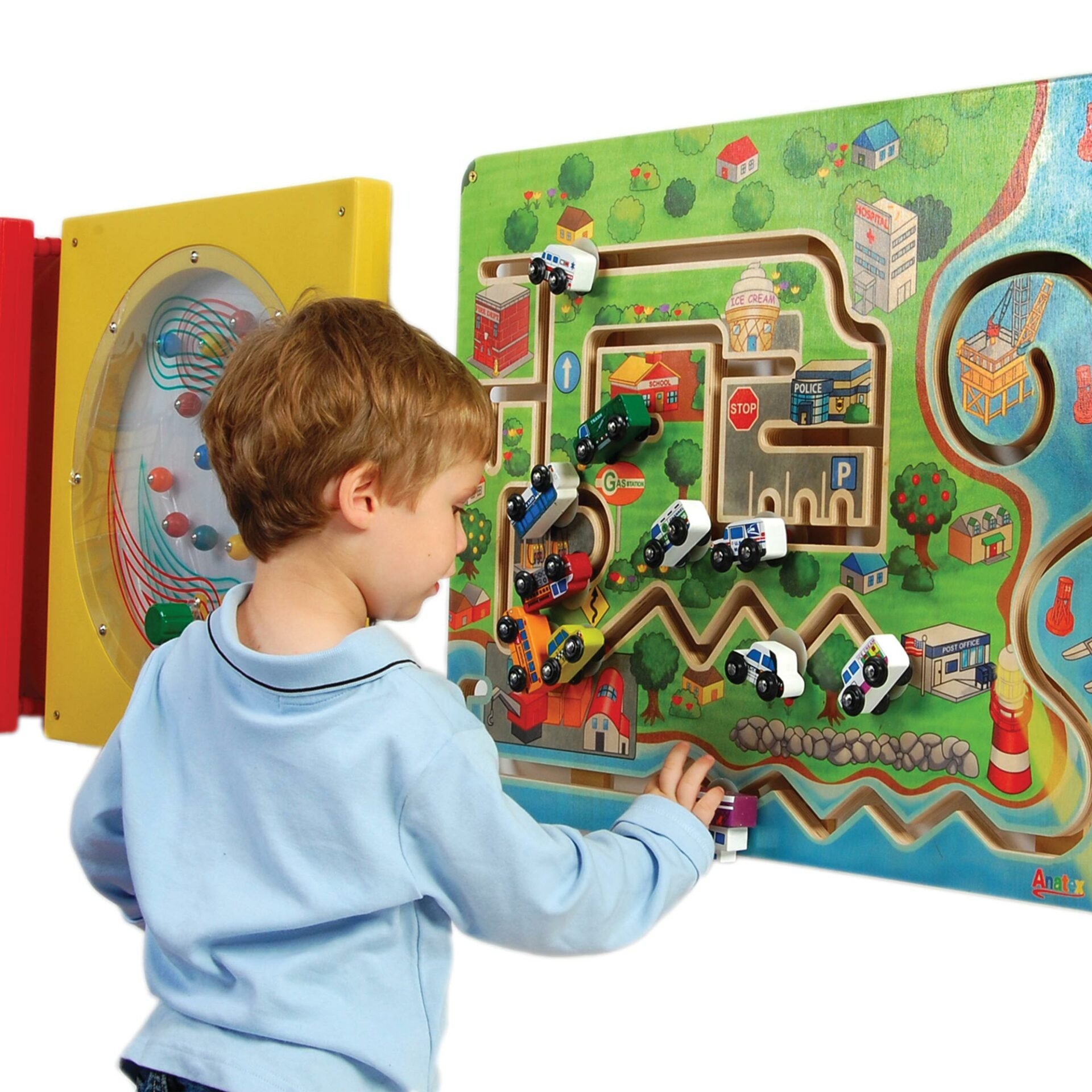 World Of Wheels Wall Panel Game for Kids