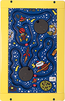 Space Trek Wall Activity Toy - Yellow Frame
