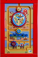 Wall Activity Toy - Yellow Frame