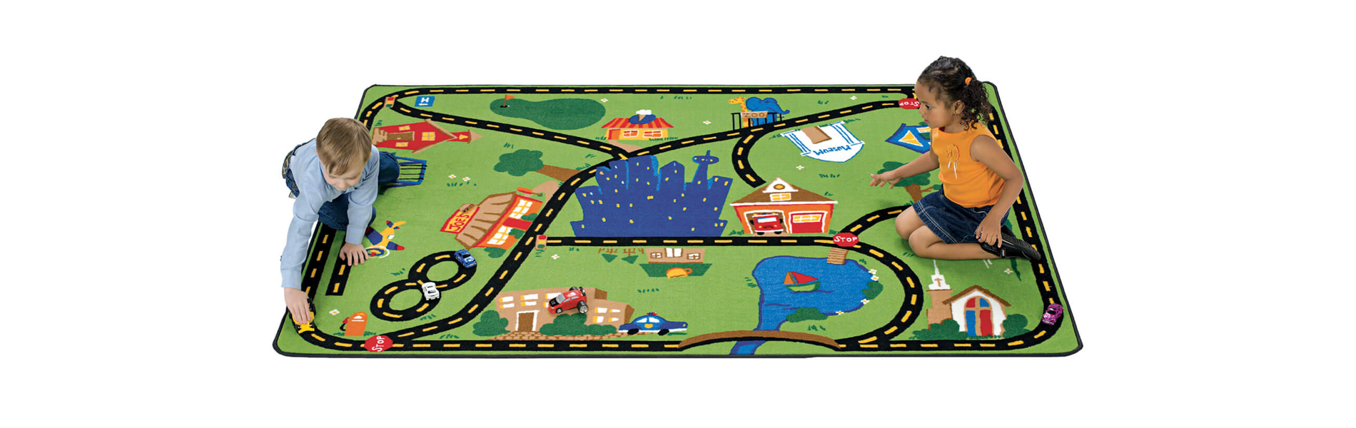 Travel Town Carpet for Kids